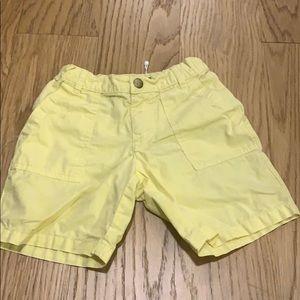 Bonpoint yellow shorts with pockets